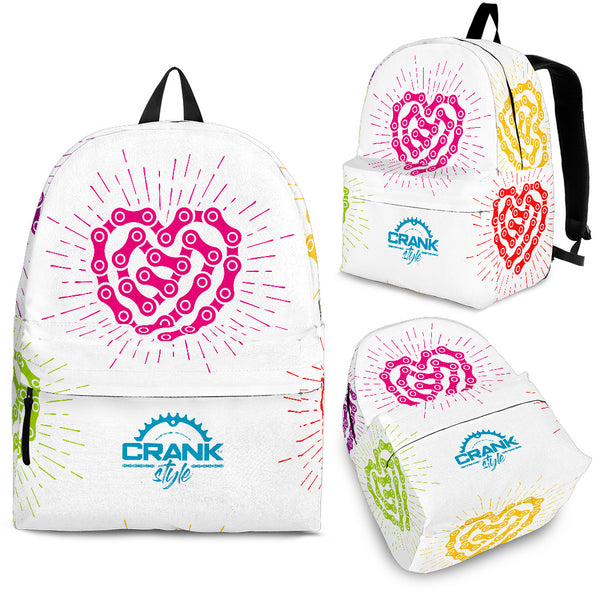 WHT Chain-Link Heart Backpack
