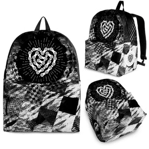 BW Check Chain Heart Backpack