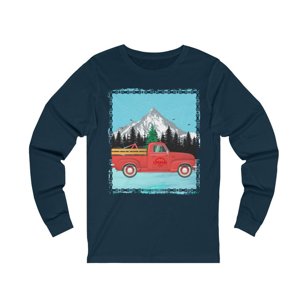 The classic Red Christmas Truck Jersey Long Sleeve Tee - Unisex