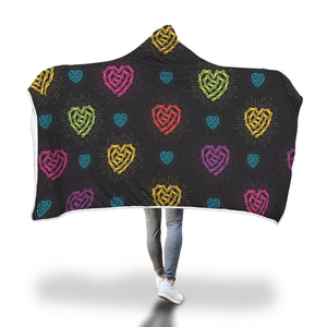 Chain Link Heart Hooded Blanket