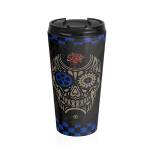 Day of Dead Gearhead Stainless Steel Travel Mug