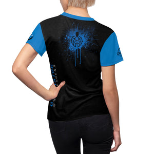 Women's Blue GU Logo DriFit Training Tee