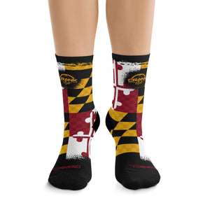 Maryland State Flag 3/4 MTB Socks