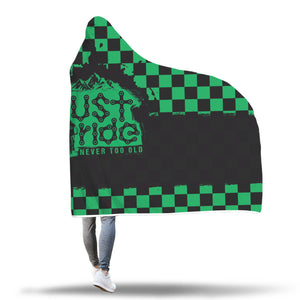 Just Ride Check Hooded Blanket