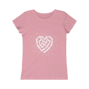 Girls Chain Heart Tee