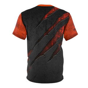 "Scratched Metal ""Orange"" MTB Jersey"