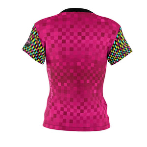 Multi Pink Checker MTB Jersey