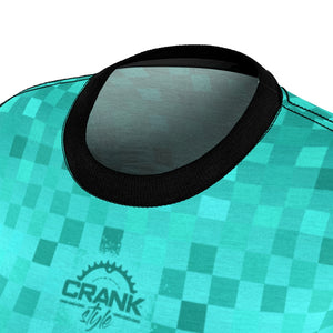 Multi Teal Checker MTB Jersey