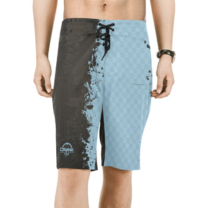 Brown & Blue Grunge MTB Boardshorts