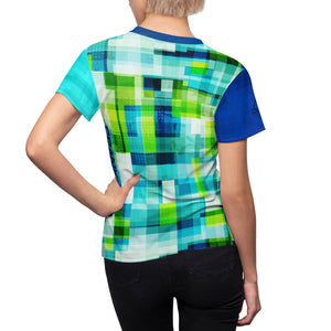 Green & Blue Grunge cells MTB Jersey