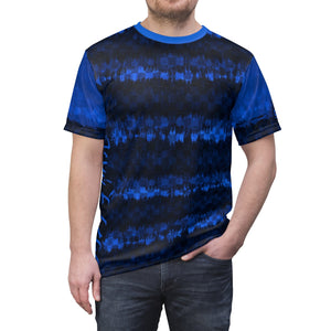 Japanese Shibori Blue Checker MTB Jersey