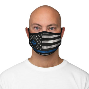 Blueline Fitted Polyester Face Mask