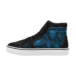 Screaming Skull Suede Hi-Tops