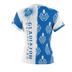 Women's Gladiator Underground White & Blue Pattern Training Tee