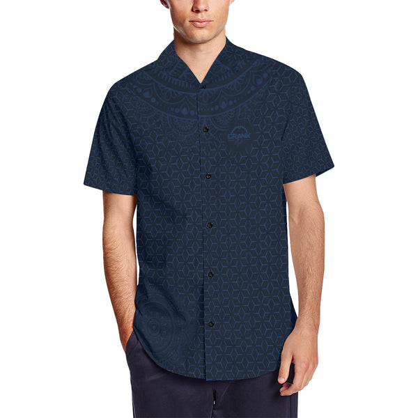 Navy Blue Sashiko MTB Button Shirt