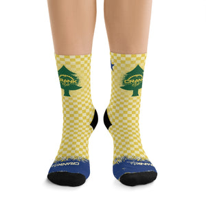 Original Maine State Flag Checker 3/4 MTB Socks