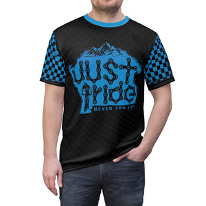 Just Ride MTB Jersey Blue/Black Checker