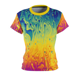 Crank Style's Women's mountain bike Jersey, this is a bright and colorful one... trippy paint drip!! You will not be missed in this one so mae sure to grab the matching socks and shred some trails!!