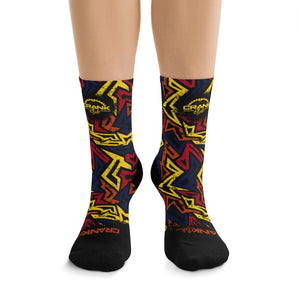 Arizona Graffiti Style Socks, great for mountain biking, hiking or any outdoor activity that needs a little extra style. Light weight and breathable. One size fits all.... children to Adult size 15 feet.