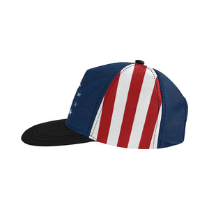 US Flag Topo Star Hat