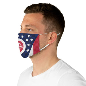 Ohio State Flag Checker Face Mask