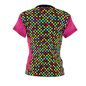 Loud Multi Pink Checker MTB Jersey