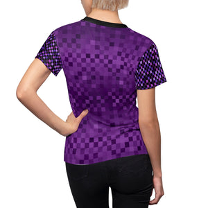 Purple Multi Checker MTB Jersey