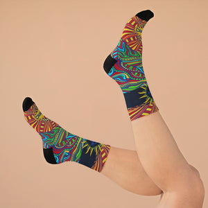 Psychedelic Bicycle Day 3/4 MTB Socks