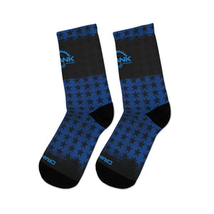 Blue & Black Stars 3/4 MTB Socks