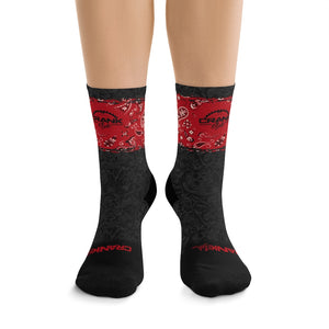 Red Bandana DoD 3/4 MTB Socks