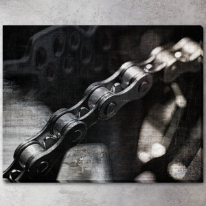 """Bike Chain"" Wrapped Gallery Canvas"