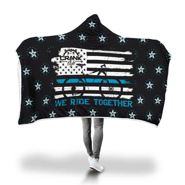 Blueline Hooded Blanket