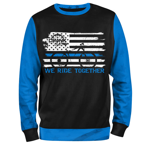 "Police ""Thin Blue Line"" We Ride Together Unisex MTB Sweatshirt"