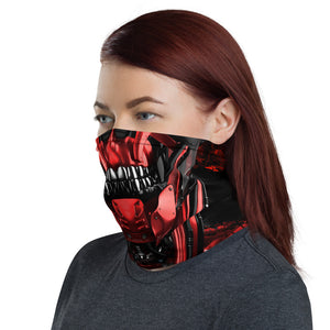 unisex washable and reusable Cyber skull face mask with tenicals coming out of the head. this face mask can be worn for cycling, mountain biking, snowboarding and hiking. Protecting you from the elements in style, crank style. Covid19