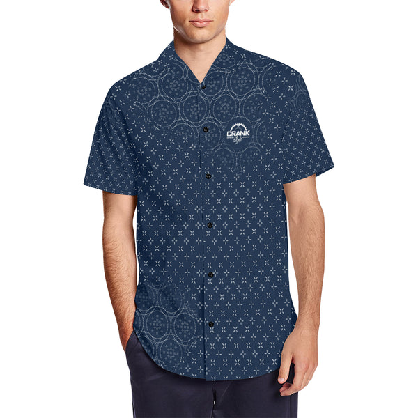 Blue Sashiko MTB Button Down