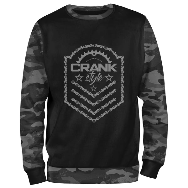 Black Camo Bike Chain Sweatshirt