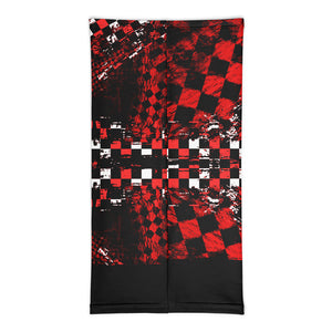 Black Red and White Checker Facemask / Neck Gaiter