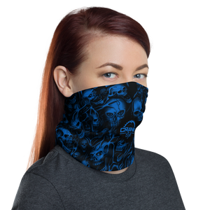 Screaming Skulls Face Mask Neck Gaiter