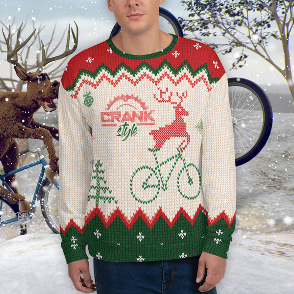 "Funny ""ugly"" Christmas Mountain bike Sweatshirt"