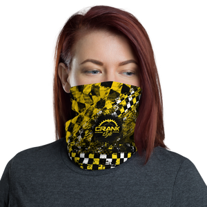 Yellow and Black Checker Face Mask / Neck Gaiter
