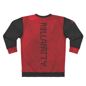 "Red Rollafatty ""Fatty III"" MTB Unisex Fleece Pullover Sweatshirt"