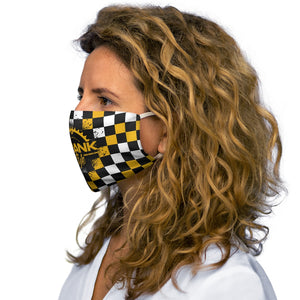 Black Yellow & White Checker Snug-Fit Face Mask