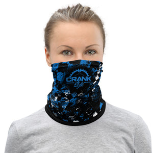 Blue, Black and White Checker Face Mask / Neck Gaiter
