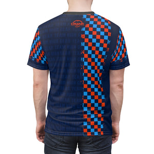 Team High Gear Orange & Blue Checker MTB Jersey