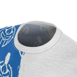 Gladiator Underground White & Blue Pattern Training Tee