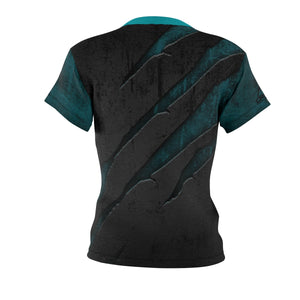 "Women's Scratched Metal ""Teal"" MTB Jersey"