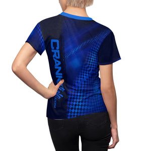 Women's Blue Topo Check MTB Jersey