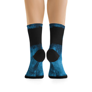 Blue Washed-out 3/4 MTB Socks