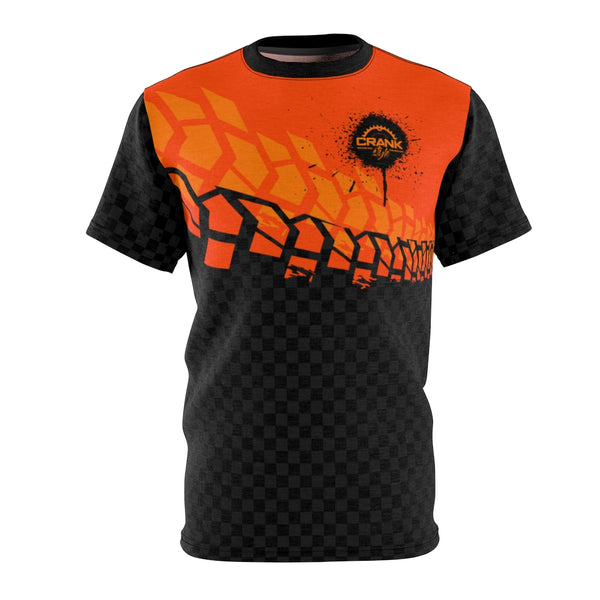 Black & Orange Tire Check MTB JERSEY