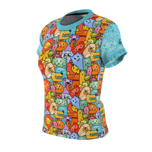 Crank Style's mountain biking Animal Planet womens jersey with colorful animals characters on the front and back and bright blue multi checkered sleeves. This one will definetly turn heads. Available in 4oz and 6 oz microfiber drifit material that wicks moisture away from the skin.